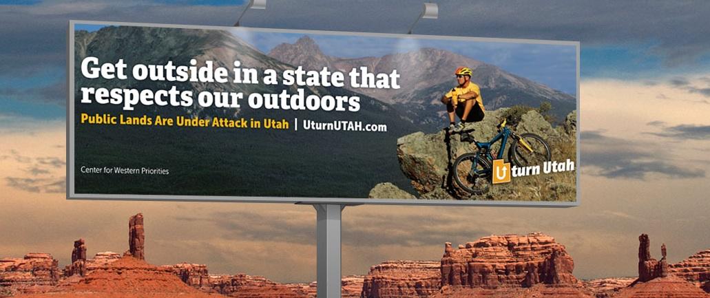 U-Turn Utah Billboard