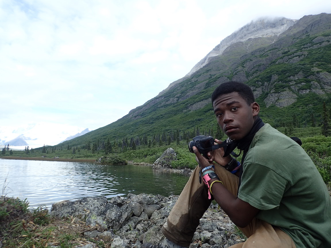 NCOAE student on a recent Education Without Walls course in Alaska