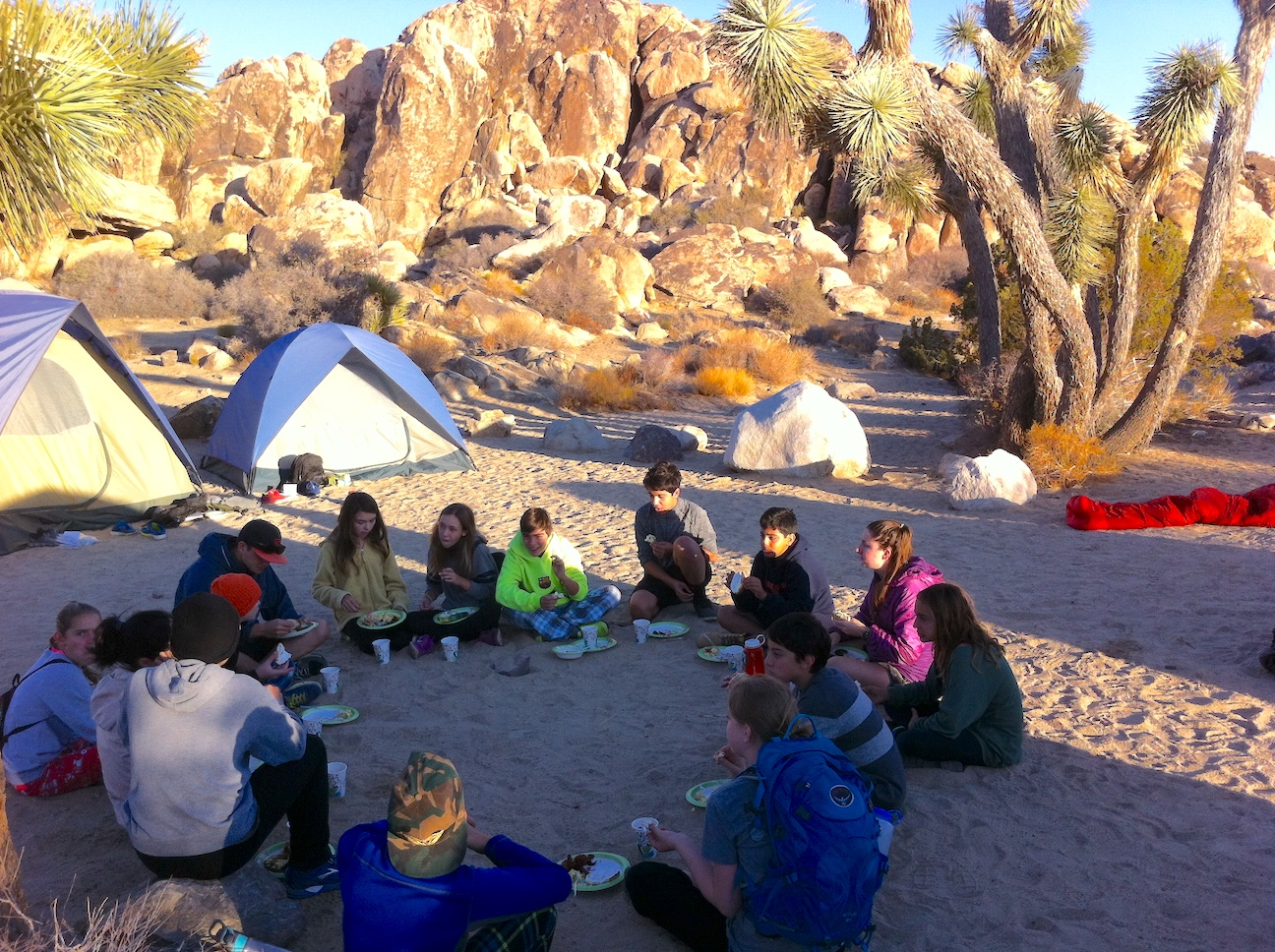 Outdoor Education Student Circle