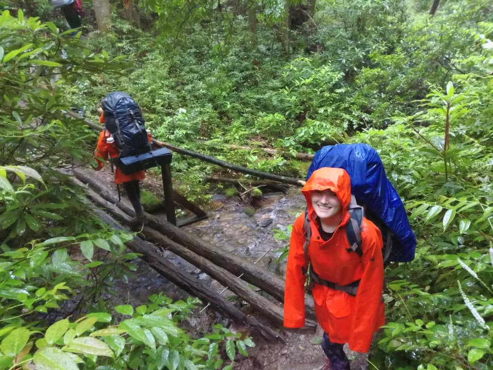 Education Without Walls Students Backpacking